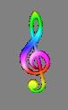 rainbow g clef