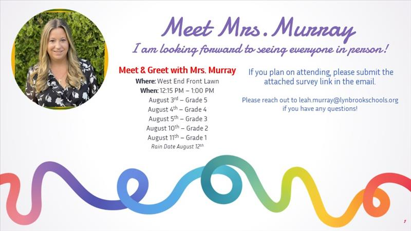 Meet Mrs. Murray flyer