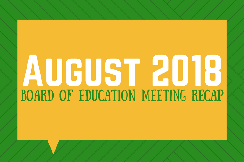 Photo August 2018 Board of Education Meeting Recap