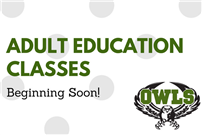 Adult Education Classes Begin Sept. 18 photo