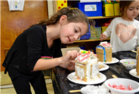 Kindergartners Build Gingerbread Homes for the Holidays Photo 6