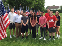 Active Citizen Teens set Field of Honor photo