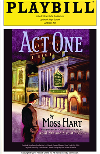 Act One Playbill