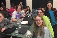 Photo of students at trivia night