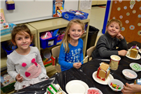 Kindergartners Build Gingerbread Homes for the Holidays Photo 1