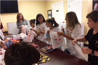 Students Making Goodie Bags