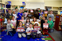 Student Council Members with Donated Toys