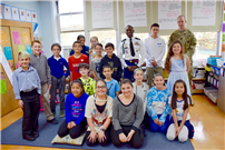 Waverly Park Students with Veterans