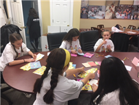 Students Writing Cards