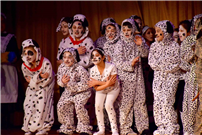 Photo of students dressed as dalmatians