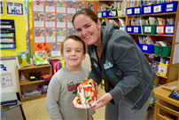Mother and Son Decorating Gingerbread House thumbnail85231