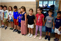 Students and Staff Stand As One For Patriot Day Photo 3
